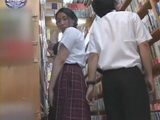Coed Schoolgirl Gropped at Library And Gets Facial By Librarian Guy In the Elevator
