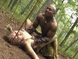 Amazon And Barbarian Warriors Fight In The Jungle