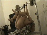 Amateur Teen Gets Tied To A Weight Bench And Fucked Mercilessly
