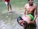 African Native Woman Fucks A Boy In A River In Front Of Crowd  Amateur Mobile Phone Video