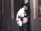 Voyeur Tapes Neighbors Teen Daughter Fucking On the Street In Front Of Her Home With Her Boyfriend