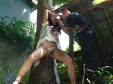 Terrified Bound To a Tree Kidnapped Teen Ai Mizushima Gets Brutally Violated and Raped By her Kidnapper