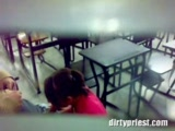 Real Teacher Caught On Tape While Student Is Giving Him A Head In A Classroom
