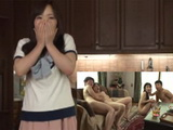 Shocked Wife Could Not Belive That Her Husband And His Friend Bring Hookers At Her House  Hitomi Enjuo Azusa Mayumi