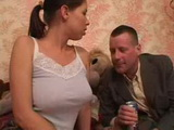 Daddy was Fascinated By Stepdaughters Big Tits