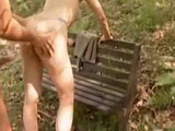 German Mature Couple Have Pussy And Anal Sex In Public Park