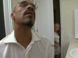 Black Daddy Fucks Daughters Tiny Blond Teen Girlfriend In Toilet