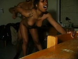 Ebony Teen Fucked From Behind And Got The Cum In Her Pussy