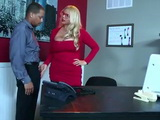 Busty Boss Lady Calls One Of Her Employees To Her Office During Lunch Break