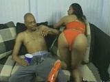 Ebony Slut In Red High Heels