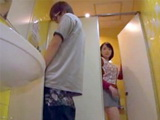 Mature Business Lady Swooped Younger Colleague In Company Toilet