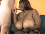 Ebony BBW With Large Natural Boobs