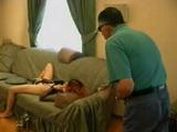 Grandpa Catches Granddaughter Masturbating