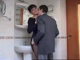 Boy Fuck Girlfriends Mother In Toilet