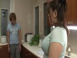 Busty Stepmom Is Driving Crazy Her Stepson In Kitchen