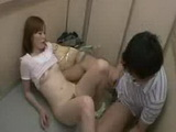 Young Housewife feel horny in the Elevator