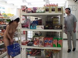 Busty Naked Housekeeper Sayuki Kanno Gets Fucked at Grocery Store