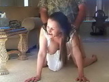 Amateur Rich Busty Milf Fucked At Her Home By Gardener