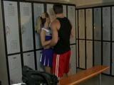 Super Hot Cheerleader Fucks In Locker Room