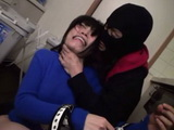 Masked Kidnaper Torturing Terrified Japanese Girl While Waiting For Ransom