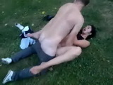Horny Teen Couple Having Quicky In The Middle Of The Park