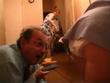 Two Maids Teasing Too Hard Grandpa Boss