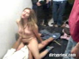 Teen Nympho Fucked After Party While Everybody Is Watching
