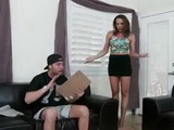 Busty Stepmom Will Do Anything To Watch Her TV Show