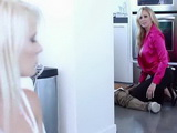 Busty Stepmom Gets Caught While Fucking A Plumber And Made Her Little Step Daughter To Join Them