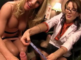 Hot MILF Doctor Measuring Boys Cock And Checking Out Is It Working Well