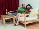 Drunk Daddy Fucks Daughters Shy Teen Girlfriend