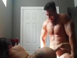 Buffed up stud fucks his horny girl like an animal