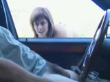 Amateur Girl Doing Blowjob Through The Car Window
