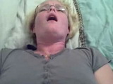 American Fatty Blonde Stimulating Pussy While BF Fuck Her Ass