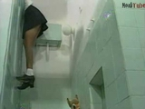 Curious Schoolgirl Gets Punished By School Janitor In A Toilet