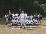 Japanese Teen Girl Baseball Team Catching Balls