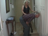 Old Horny Couple Were Spying Their Sons Girlfriend While She Was Showering