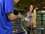 Russian Chick With Big Natural Boobs Gets POV Anal In Hotel Foyer