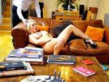 Gorgeous Blonde Caught Masturbating And Fucked