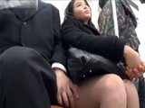 Busty Japanese Teen Gets Face Fucked In A Crowded Public Bus By An Older Man