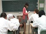 Busty Japanese Teacher Arisa Misato Fucked Every One Of Her Students