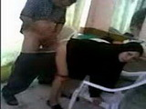 Arab Wife Caught Cheating With Her Neighbor In A Backyard