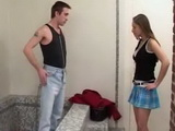 Arguing About Bathroom Between Stepsister And Stepbrother Ended Up With Fucking