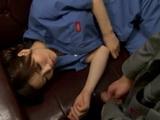 Tired Sleeping Colleague Nanako Mori Gets Abused At Work