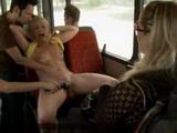 Fucking Blonde Slut In The Middle Of The Bus Full Of People
