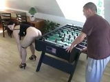 Playing Table Football With Swedish Girlfriends Asshole Always Lead To Anal