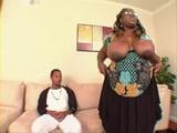 Big Black BBW Mama Fucks Black Boy