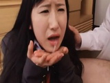 Assaulted Schoolgirl Ichinose Suzu Barely Hold On Tears After Crazy Uncle Empty His Balls Into Her Mouth