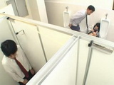 Japanese Schoolgirl Gets Molested By Her Teacher In A Toilet And Then Fucked By Classmate Who Saw Everything