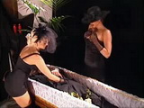 Milf Housewife Tried To Raise Her Husband From the Dead With Pussy